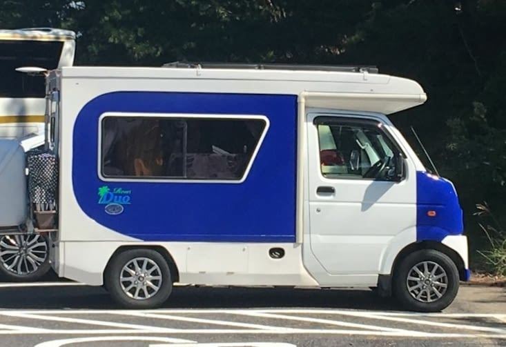 Cars and campers in Japan