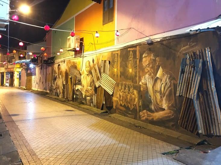 Street Art au centre ville de Kuching (Malaisie Sarawak)