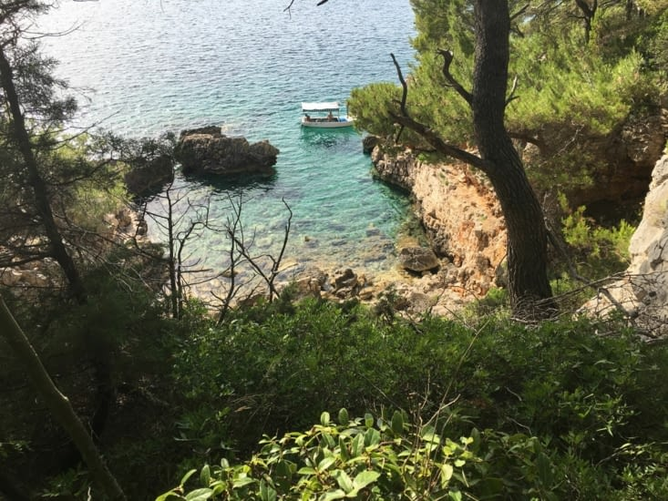 A cove on Osjak island in Croatia....: Only for us!!