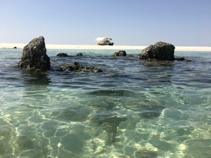 Les plages merveilleuses et désertes de l'île de Masirah à Oman