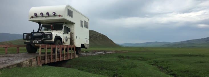 Mongolian roads! an ordeal but also a great playground