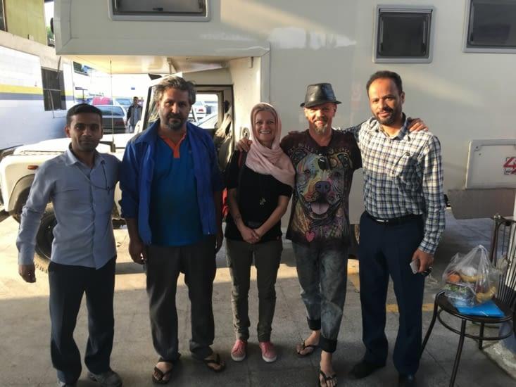 Changement des plaquettes de frein en Iran: facture 0 € + repas offert!
