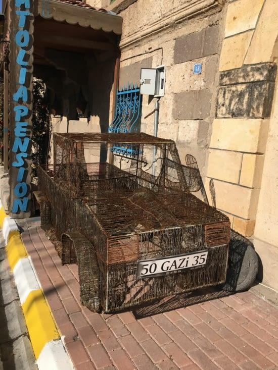 Une découverte amusante chez notre ami Ahmet (Uchisar, Turquie)!