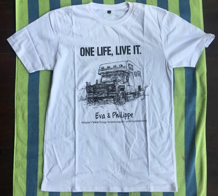 Notre nouveau Tee Shirt est arrivé... on est top content. Merci à Daniel et Dwiko