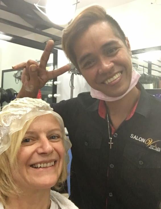 Philippines : sceance coiffure