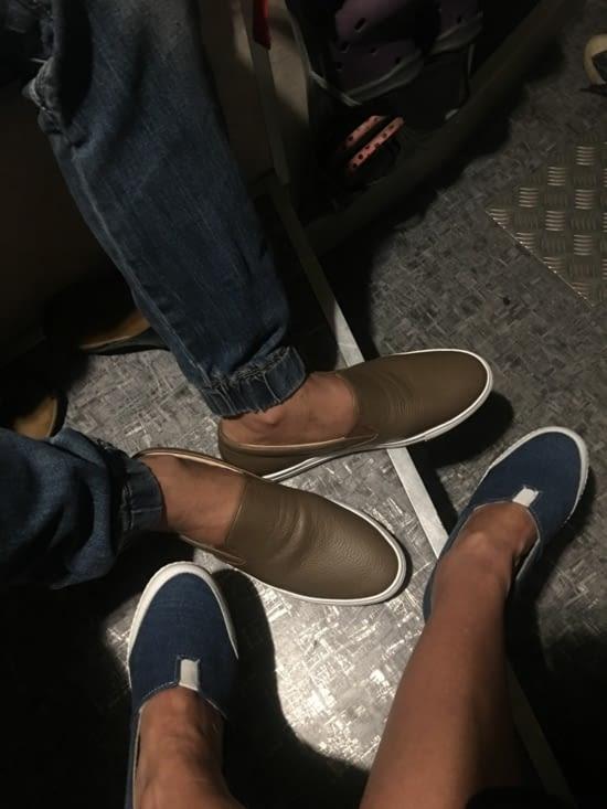 Un cadeau : des chaussures fabriquées à Bogor (Java)