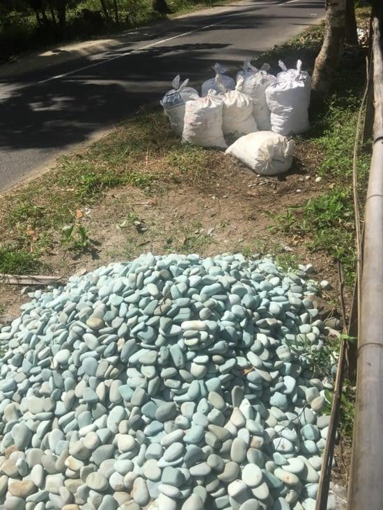 Des galets ramassés sur les plages de Flores et achetés par les Japonais. Profit pour qui
