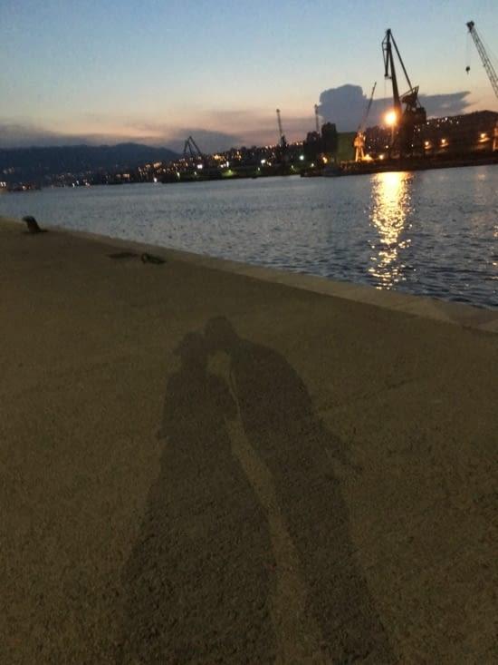 Jeu d'ombres à Rijeka (port)