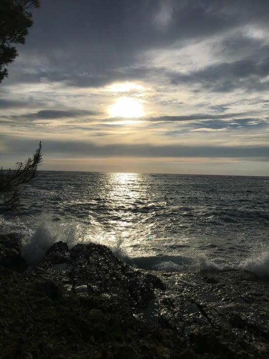 Un dernier coucher de soleil vu du phare de Véli Rat (toujours pas l'animal ...)