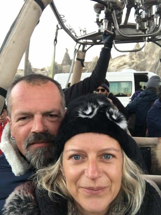 Un grand jour ..... découverte de la Cappadoce en Montgolfière (debout 6h, retour 9h !!!)