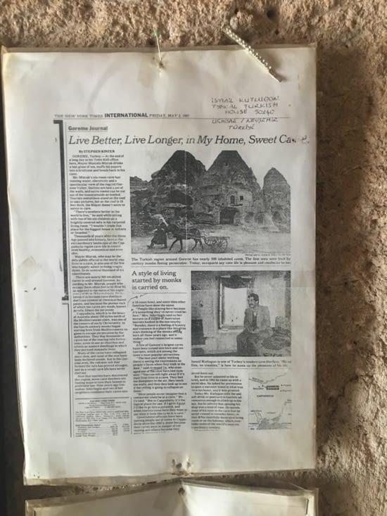 Article dans le New York Times !