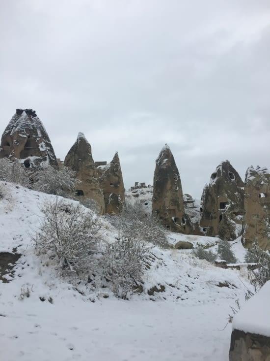 La neige ! Il est temps de quitter la Cappadoce