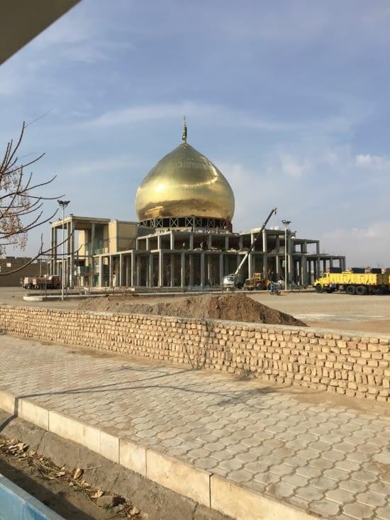 Construction d'une mosquée à Kashan