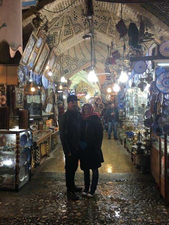 Entrée du vieux bazar de Shiraz