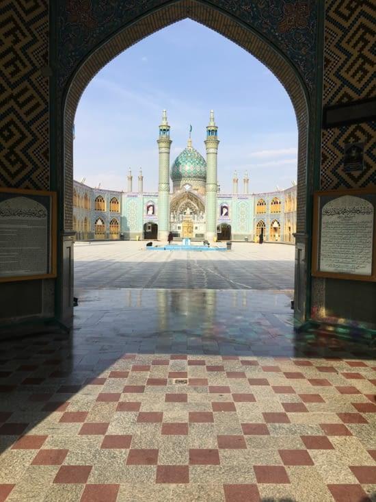 La mosquée Aran et Bidgol Holy Shrine a Kashan