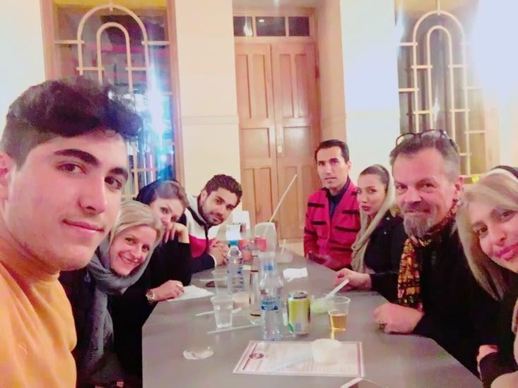 Soirée de départ d'Esfahan ! Plein de cadeaux !!!