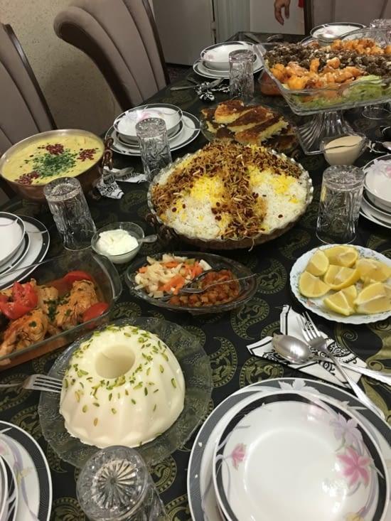 Repas Iranien prépare par Sina .... gastronomique !!