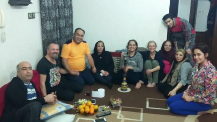 2 nuits passées dans la famille de Reza a Busher (adorable)
