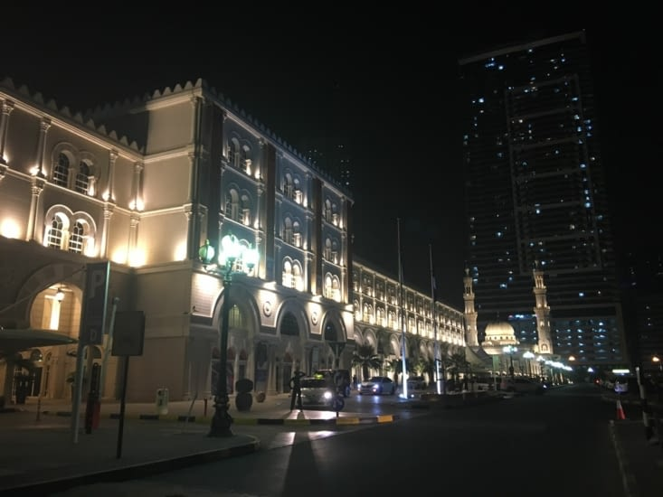 Le centre ville le soir