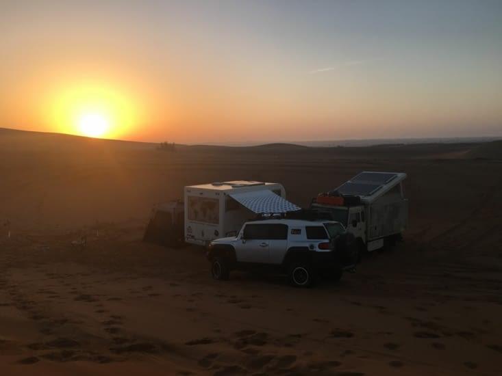7h du mat pour le lever du soleil ... magnifique !