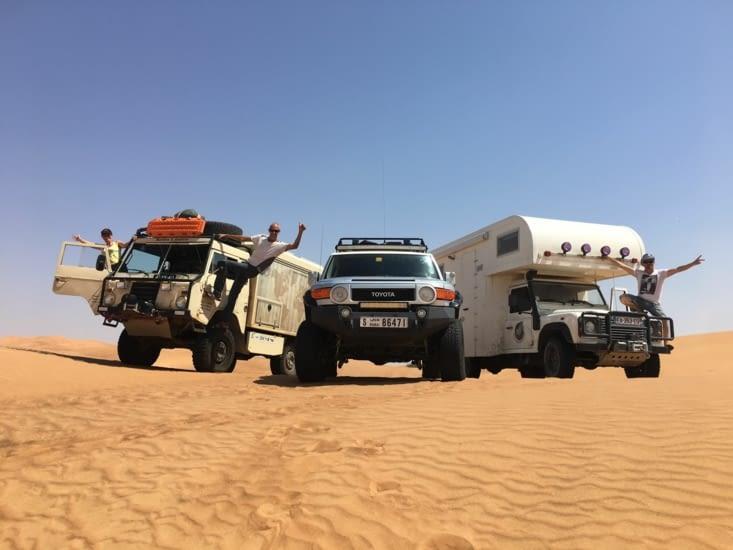 Sortie dans le desert a 40 Kms de Dubai