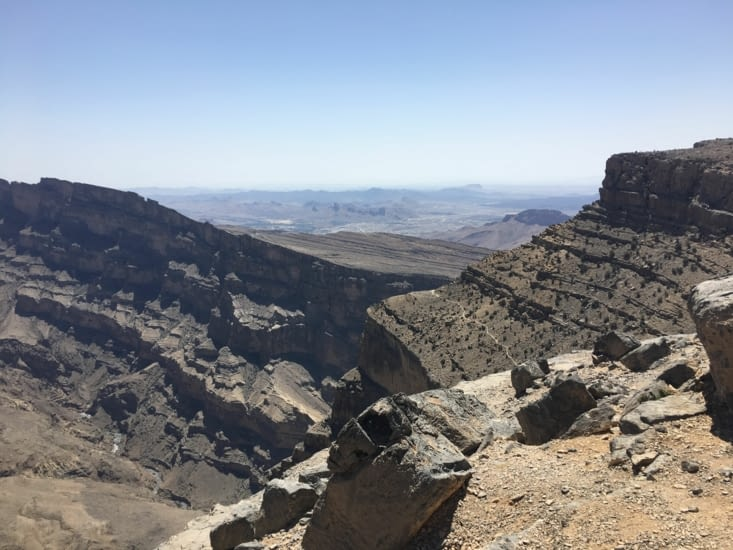 Sentier le long du canyon magnifique ...