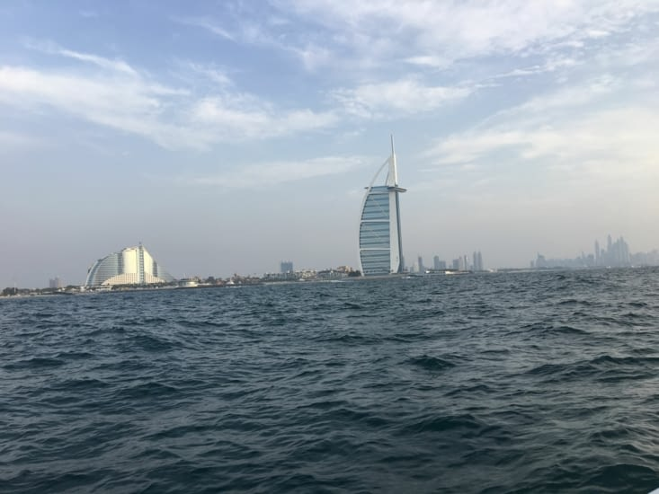 Le Burj Al Arab vu du bateau !