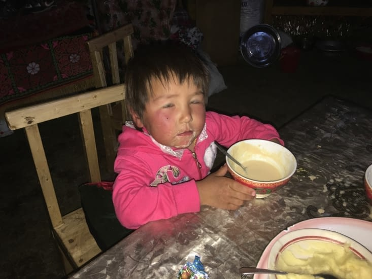 Moins quand il mange !