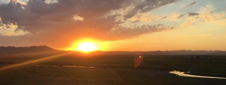 Un coucher de soleil dans un nomand'sland ... magnifique !