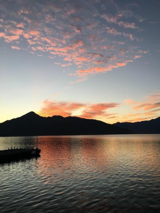 Bivouac sur le lac Chuzen ji