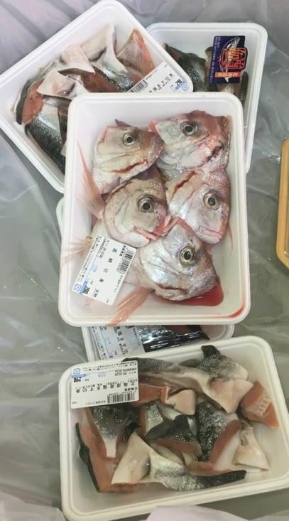 Dans le poisson tout est bon : 5 têtes a 2€