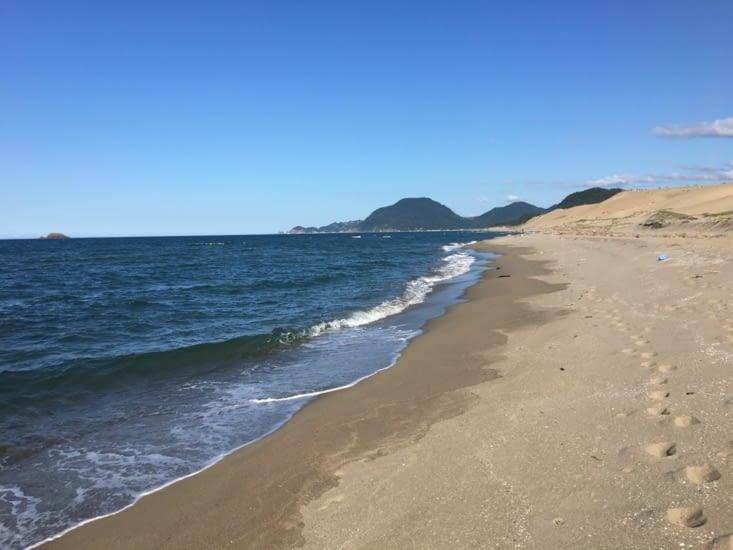 Les dunes de sable des plages de Tottori