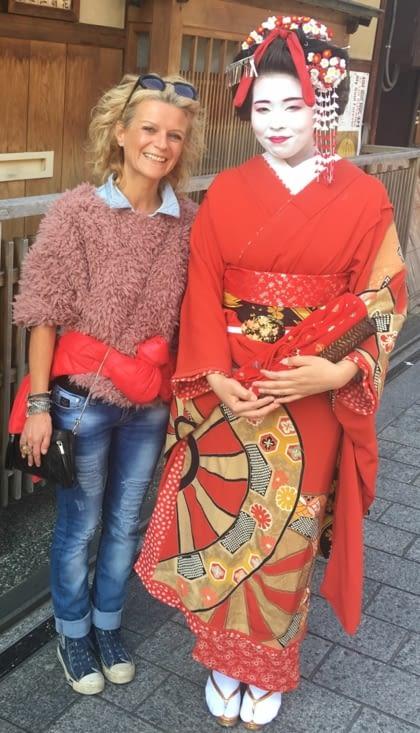 Surtout les vrais Geisha (qui sortent très peu)du quartier de Gion ...
