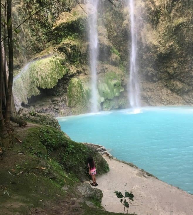 Waterfall pret de Boljoon au sud de l'ile de Cebu
