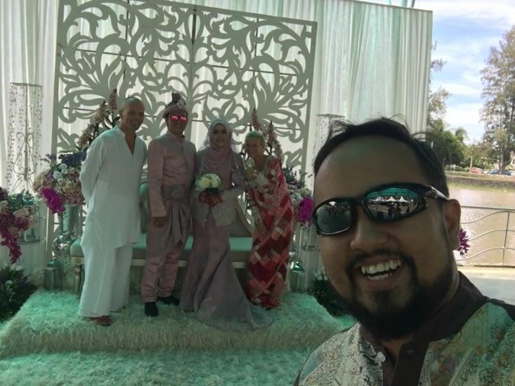 Grace a la famille de Qistina nous avons été invité à un mariage Malais