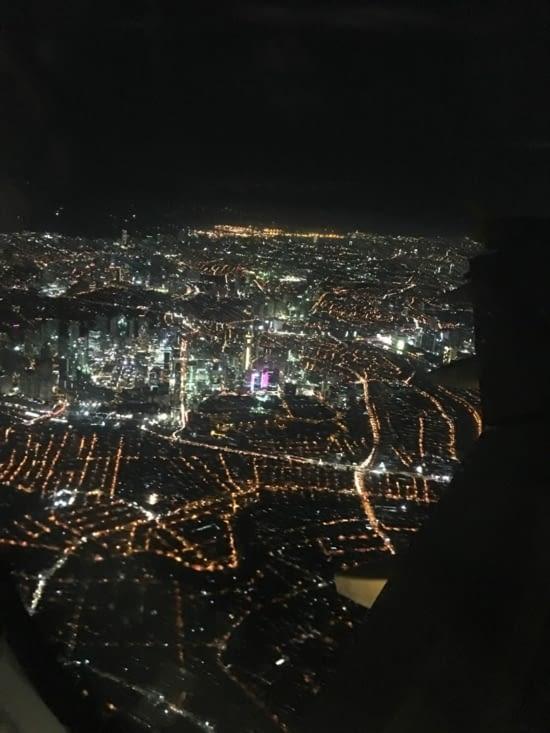 Kuala Lumpur (capitale) en vue (il est 2 h du mat) et ensuite 1 h de taxi !