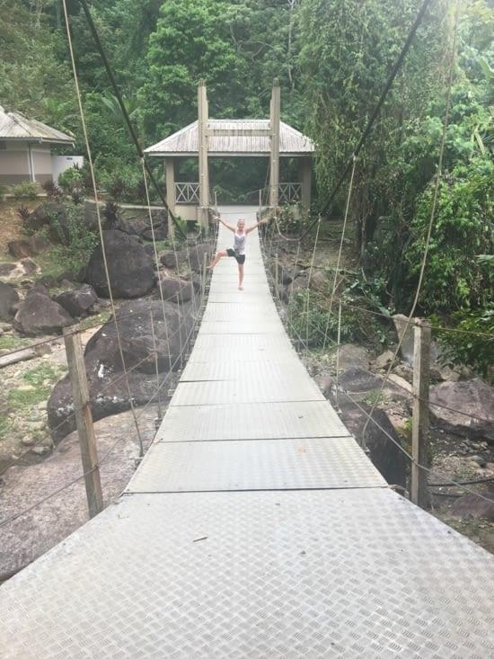 Le petit pont de ... métal !