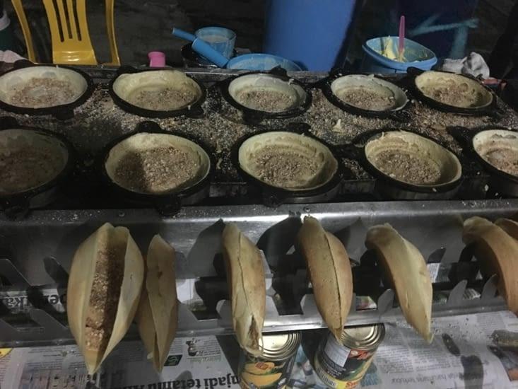 Les crêpes aux cacahuètes de Langkawi ... succulentes !!!