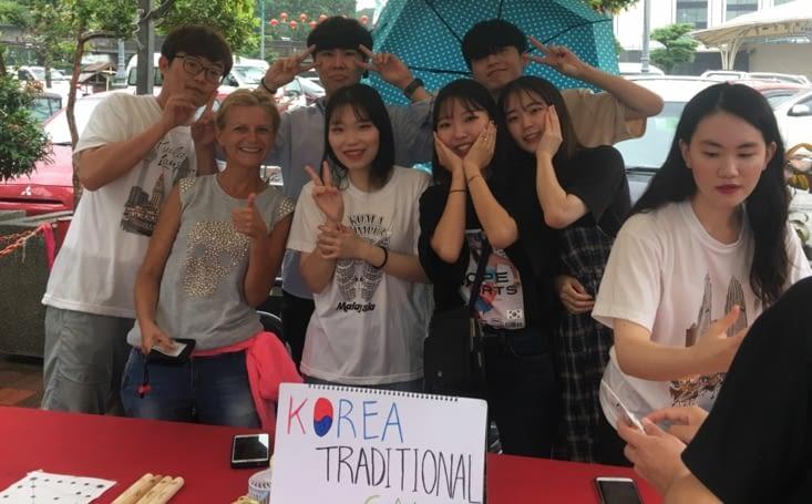 """Un stand """"spécial Corée du Sud"""" ... on connaît !"""