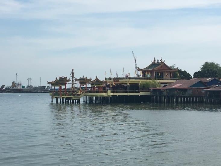 Le quartier Chinois Flottant Chinois de «Clan Jetties»