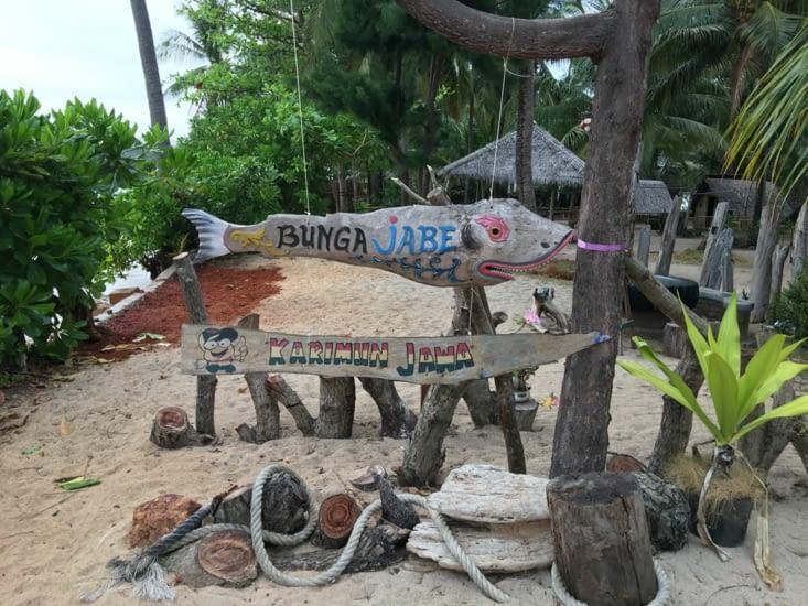 Arrivée dans notre Guesthouse sur l'ile de Kalimunjawa