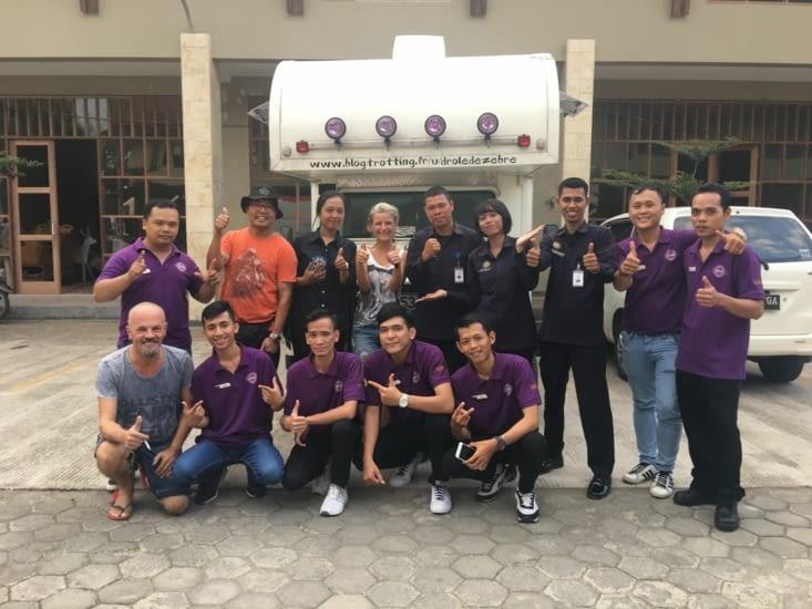 Des supporters Indonesien ! Aussi content que nous