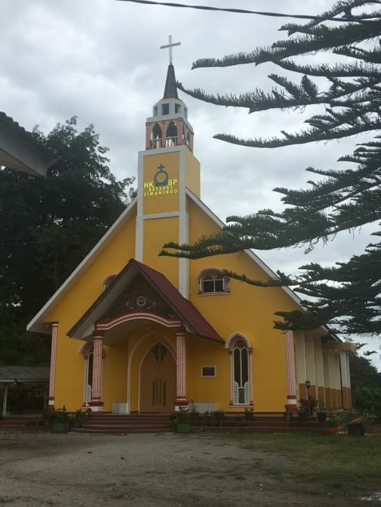 La région centre autour du lac Toba est 100% Catholique dans un pays Musulman