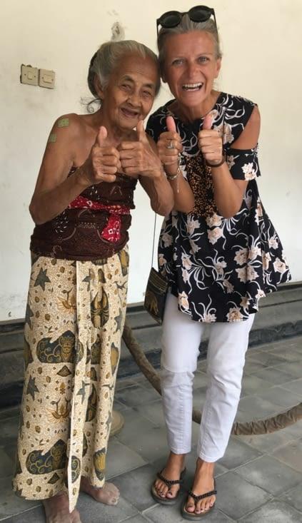 Une des pensionnaires du palace du sultan de Yogyakarta