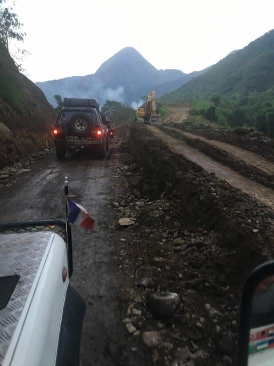 L'etat de la route après l'eruption !