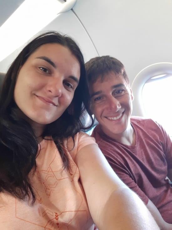 Dans l'avion 😊
