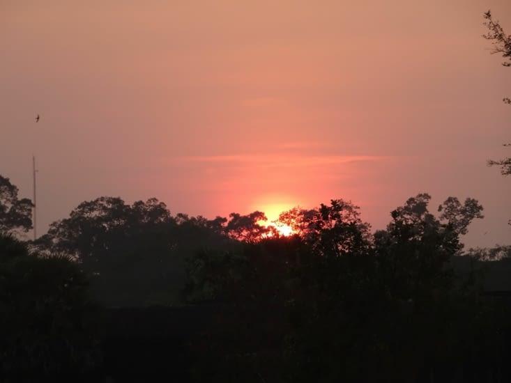 coucher de soleil aux temples
