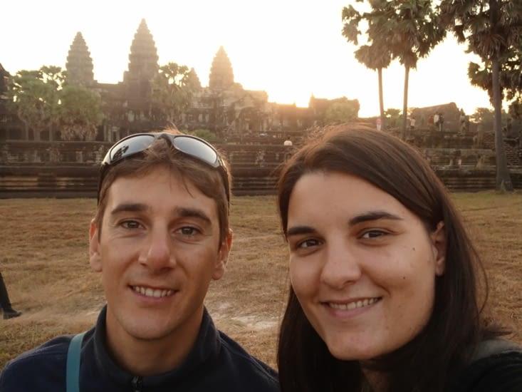 Levé de soleil aux temples
