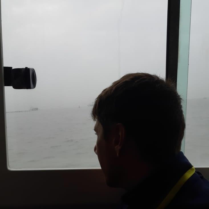 Lauris dans le bateau 😊