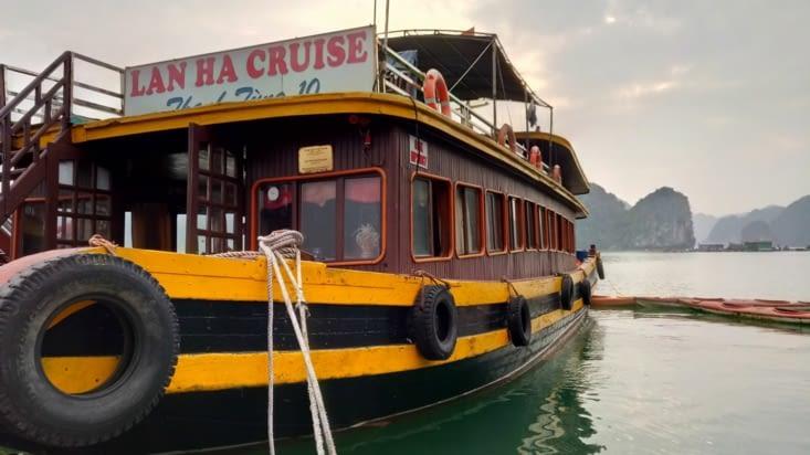 Le bateau pour notre croisière